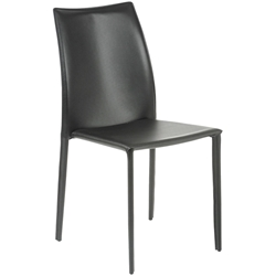 Dalia Stacking Dining Chair in Black