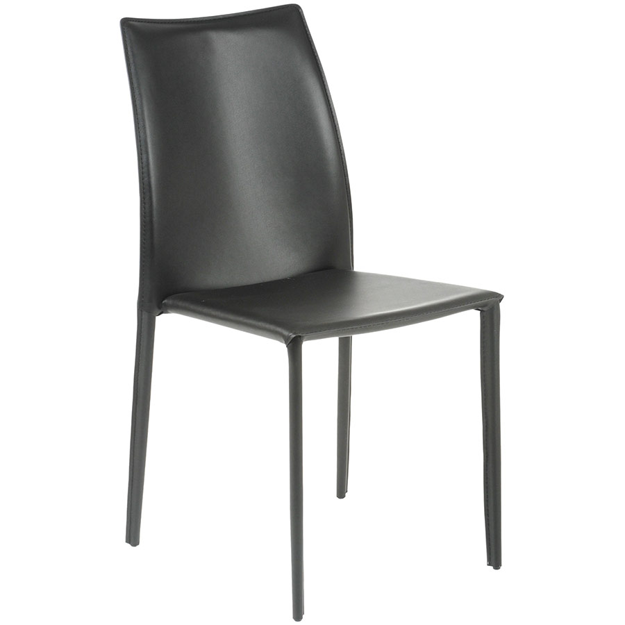 Dayton Stacking Dining Chair in Black