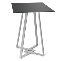 DeeDee Black Glass + Metal Modern Bar Height Table