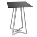 Dirk Black Glass + Metal Modern Bar Height Table by Amisco