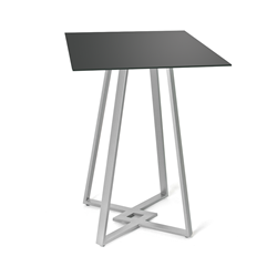DeeDee Black Glass + Metal Counter Height Table