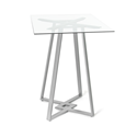 Dirk Clear Glass + Metal Modern Counter Height Table by Amisco