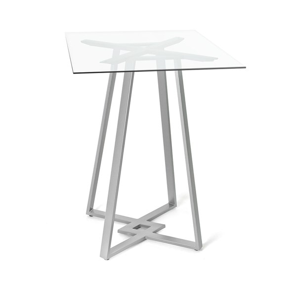 DeeDee Clear Glass + Metal Modern Counter Height Table