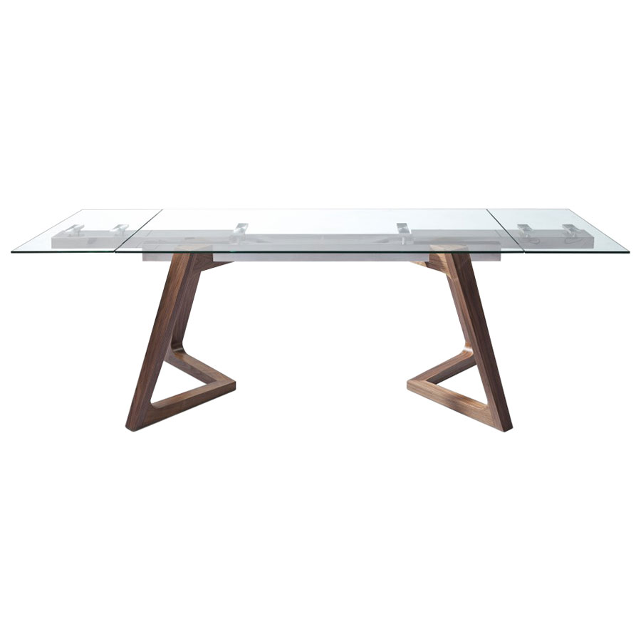Deena Contemporary Dining Table Front Extended