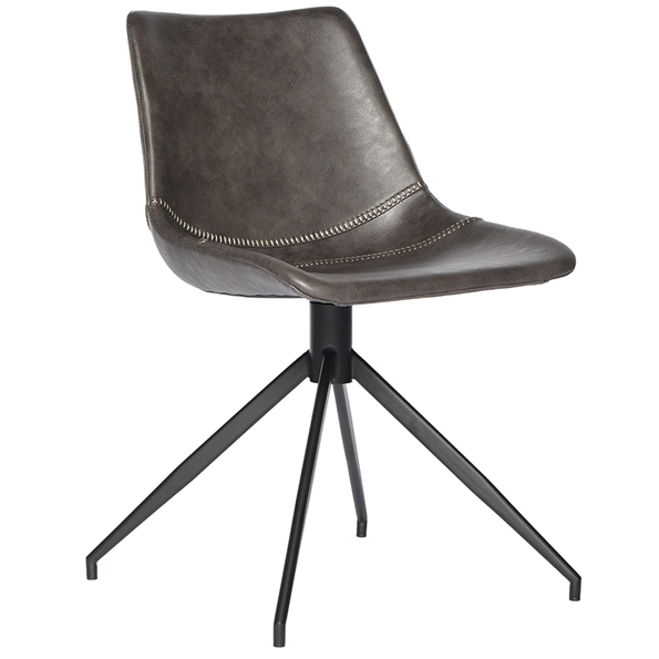 Delaware Modern Swivel Chair in Dark Gray