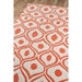 Delight Contemporary Area Rug in Orange