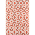 Delight Modern Area Rug in Orange