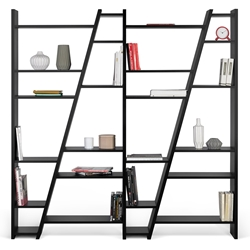Delta Quad Black Bookcase by TemaHome