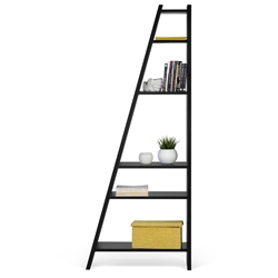 Delta Single Black Bookcase by TemaHome