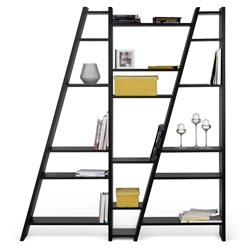 Delta Triple Black Bookcase by TemaHome