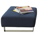 Deluxe Excess Ottoman in Blue by Innovation Living