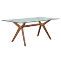Unique Furniture Denali Glass + Walnut Dining Table
