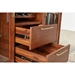 Denali Contemporary Walnut Wine Rack and Cabinet - Drawer Detail