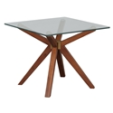 Unique Furniture Denali Glass + Walnut End Table