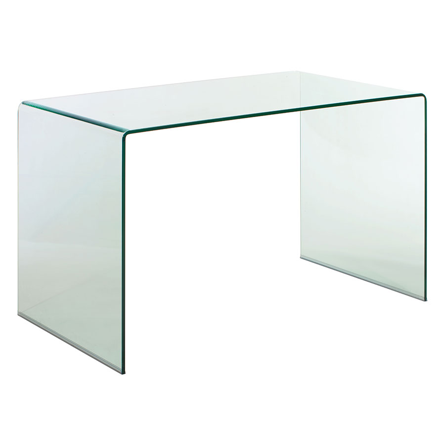 Call To Order Denmark 47 In Modern Clear Bent Glass Desk