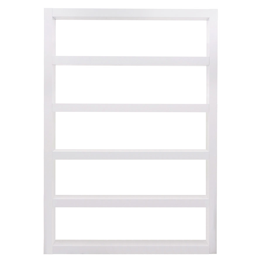 Denso Contemporary Wide White Bookcase by TemaHome