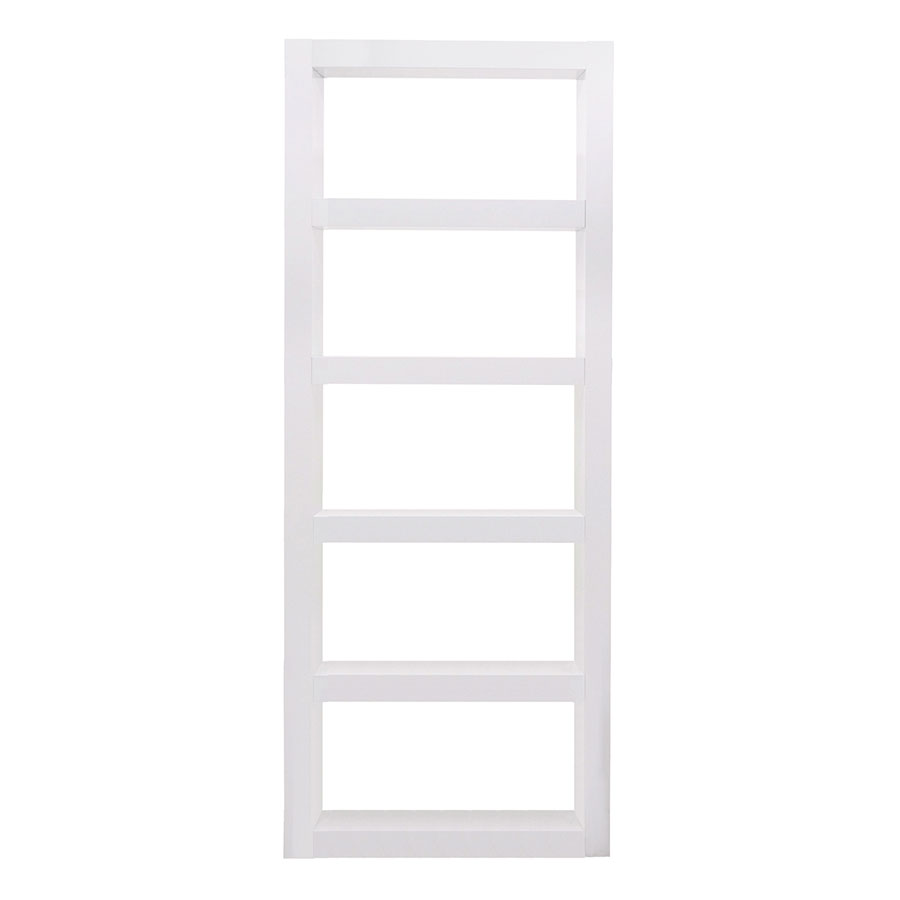 Denso Modern White Bookcase by TemaHome