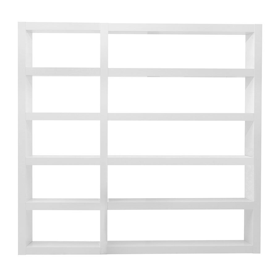 Denso White Contemporary Wall Unit by TemaHome