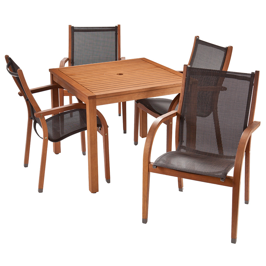 Denver modern outdoor dining set eurway furniture for Outdoor dining chairs modern