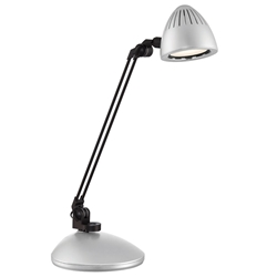 Denzel Silver LED Modern Desk Lamp
