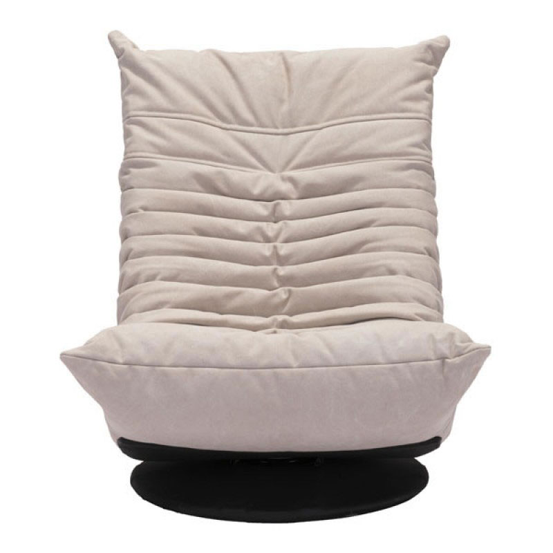 ... Derby Low Beige Tufted Polyblend Fabric Contemporary Swivel Lounge Chair  ...