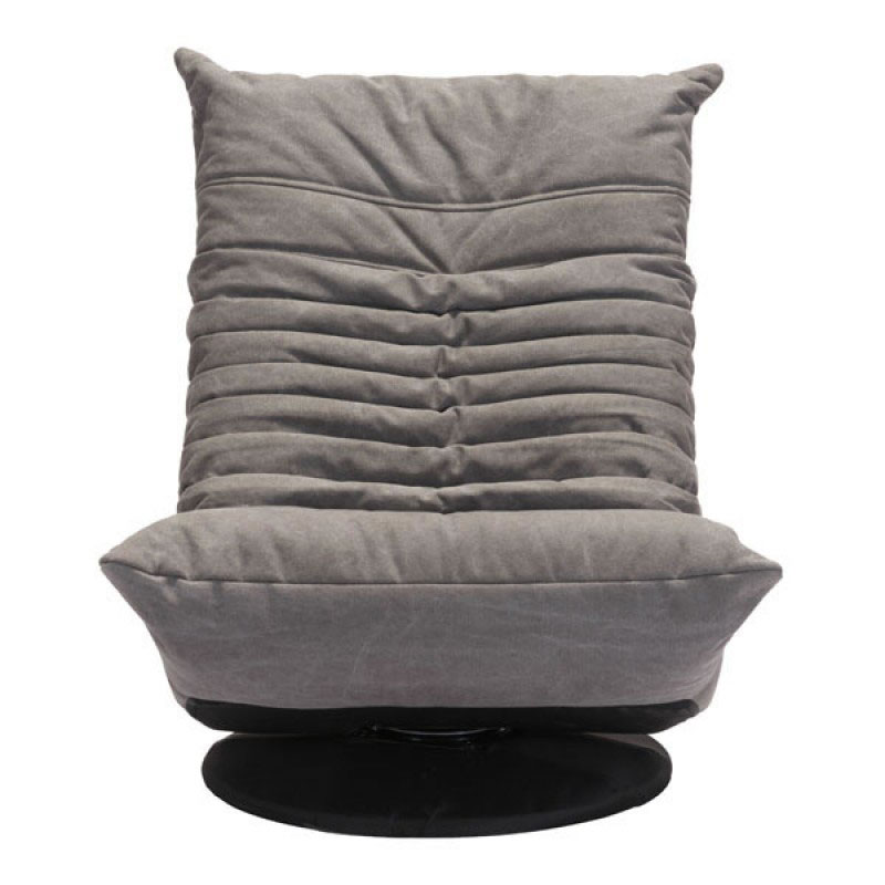 ... Derby Gray Tufted Polyblend Fabric Low Contemporary Swivel Lounge Chair  ...