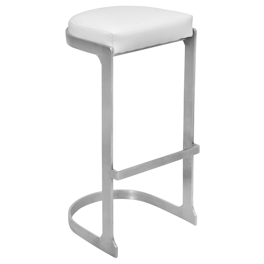 Derrick Modern White Bar Stool