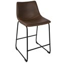 Derrick Modern Brown Counter Stool