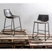 Derrick Modern Gray Faux Leather Counter Stools