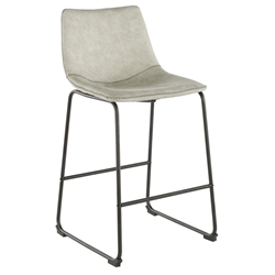 Derrick Modern Light Grey Counter Stool