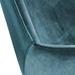 Desara Modern Blue Office Chair - Stitch Detail