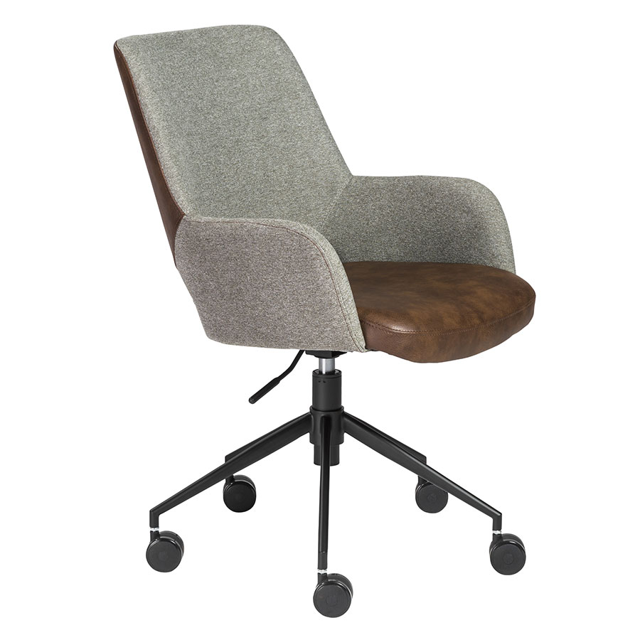 desara brown gray modern tilting office chair eurway