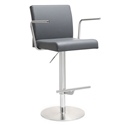 Detleff Gray Adjustable Modern Stool