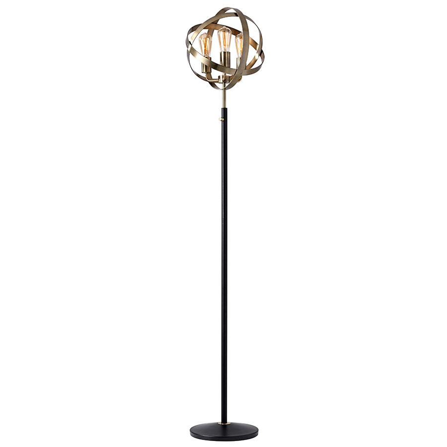 Call To Order · Detroit Modern Antique Brass Floor Lamp