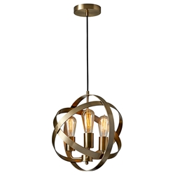 Detroit Modern Antique Brass Hanging Lamp
