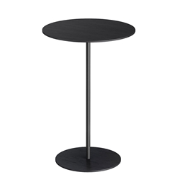 Dey Short Modern Side Table in Black Oak and Polished Onyx Steel by Modloft Black
