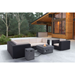 Dharma Gray Magnesium Oxide Contemporary Fire Pit