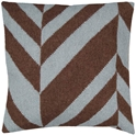Diagonal Modern Accent Pillow in Blue/Brown