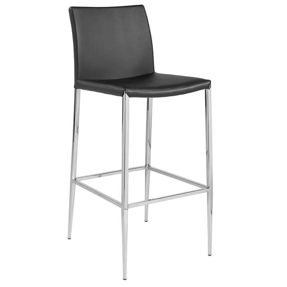 Euro Style Diana Modern Black Stackable Bar Stool