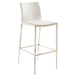 Euro Style Diana Modern White Stackable Bar Stool