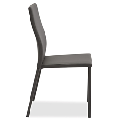 Diana Anthracite Modern Dining Side Chair by Pezzan