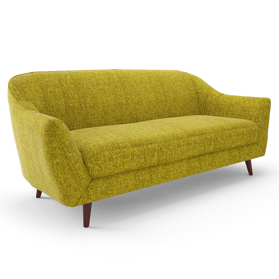 Sofa Free Delivery: Dierdre Green Fabric Sofa