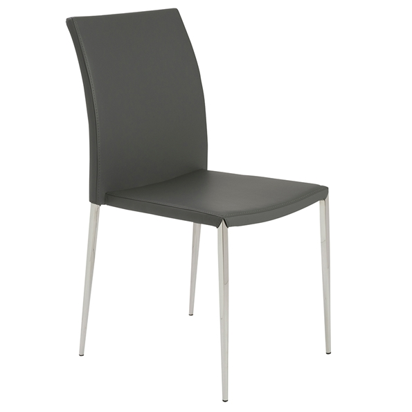 Dilys Modern Gray Stackable Side Chair
