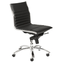 Dirk Modern Black Armless Low Back Office Chair by Euro Style