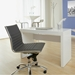 Euro Style Dirk Modern Armless Gray Low Back Office Chair
