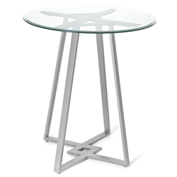 Dirk Counter Table by Amsico with Glass Top