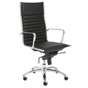 Dirk Modern Black High Back Office Chair by Euro Style