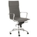 Dirk Modern Gray High Back Office Chair by Euro Style