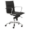 Dirk Modern Black Low Back Office Chair by Euro Style