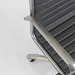 Dirk Gray Leatherette + Powder Coated Frame Modern Office Chair Detail